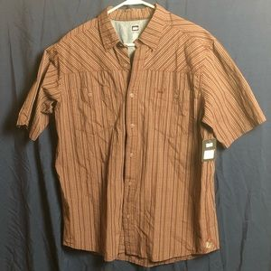 NWT REI Men's Short Sleeve Button Down Size Large